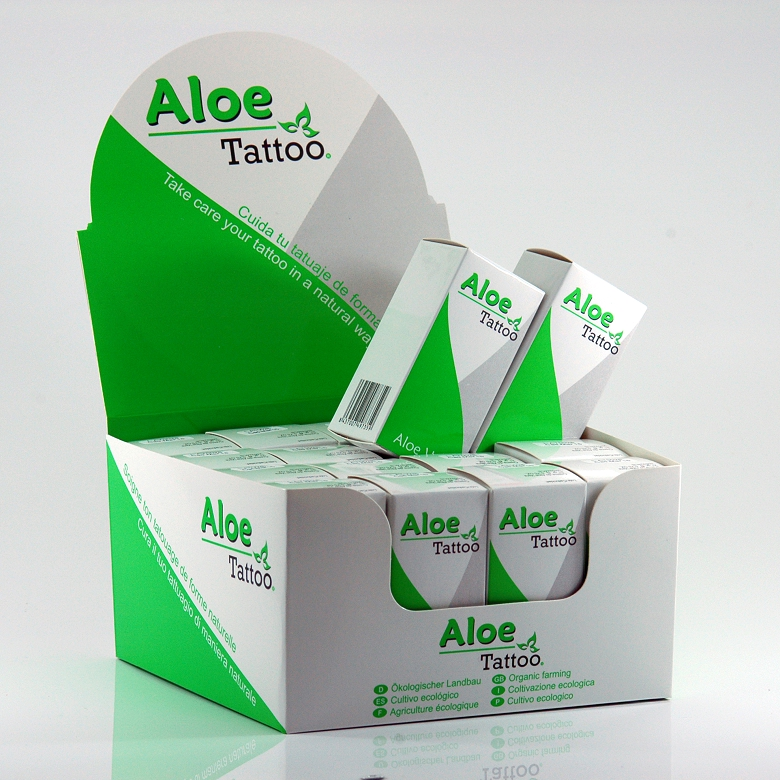 Aloe Tattoo Expositor 16 uds. 25g. (0,88OZ)