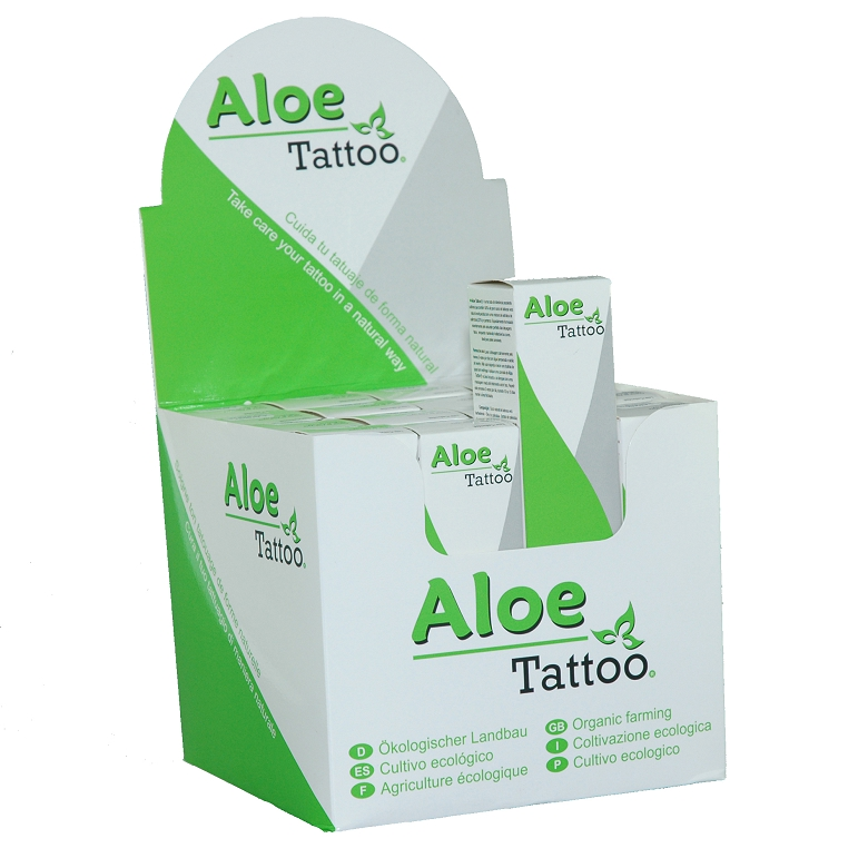 Aloe Tattoo Expositor 16 uds. 50g. (1,75OZ)